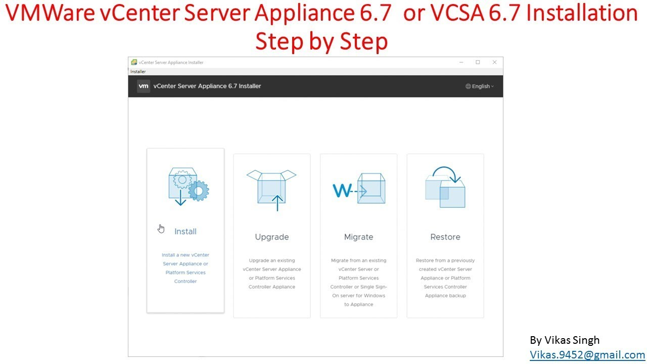 How to Deploy/Install VMWare vCenter Server Appliance 6 7 (VCSA 6 7) Step  by Step