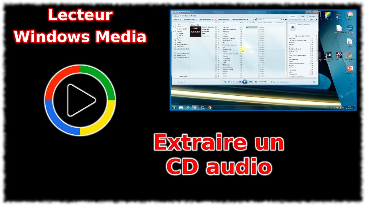 tuto lecteur windows media extraire un cd audio youtube. Black Bedroom Furniture Sets. Home Design Ideas