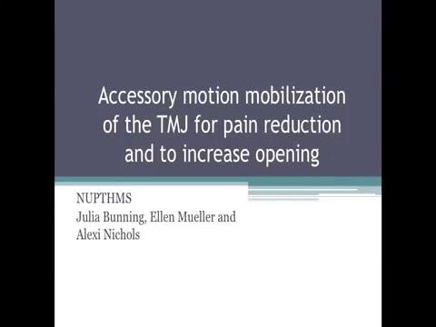 Mobilization Of The Temporomandibular Joint Tmj Physical