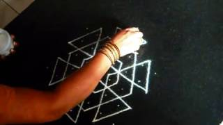 Rangoli / kolam designs step by step for Puja