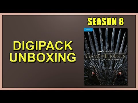 Game Of Thrones: Season 8 Blu-ray Digipack Unboxing
