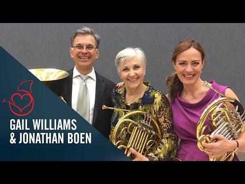 Gail Williams and Jonathan Boen on Sarah´s Horn Hangouts
