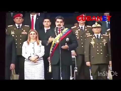 Fuerte explosión durante discurso de Maduro en Caracas