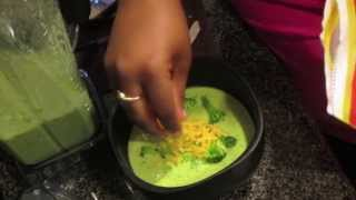 Broccoli & Cheese Soup In The Vitamix