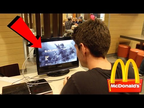 PLAYING MY PLAYSTATION IN MCDONALDS! (Kicked Out!?)