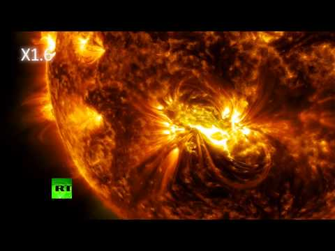 NASA video: Largest sunspot since 1990 burps flares for 8 days