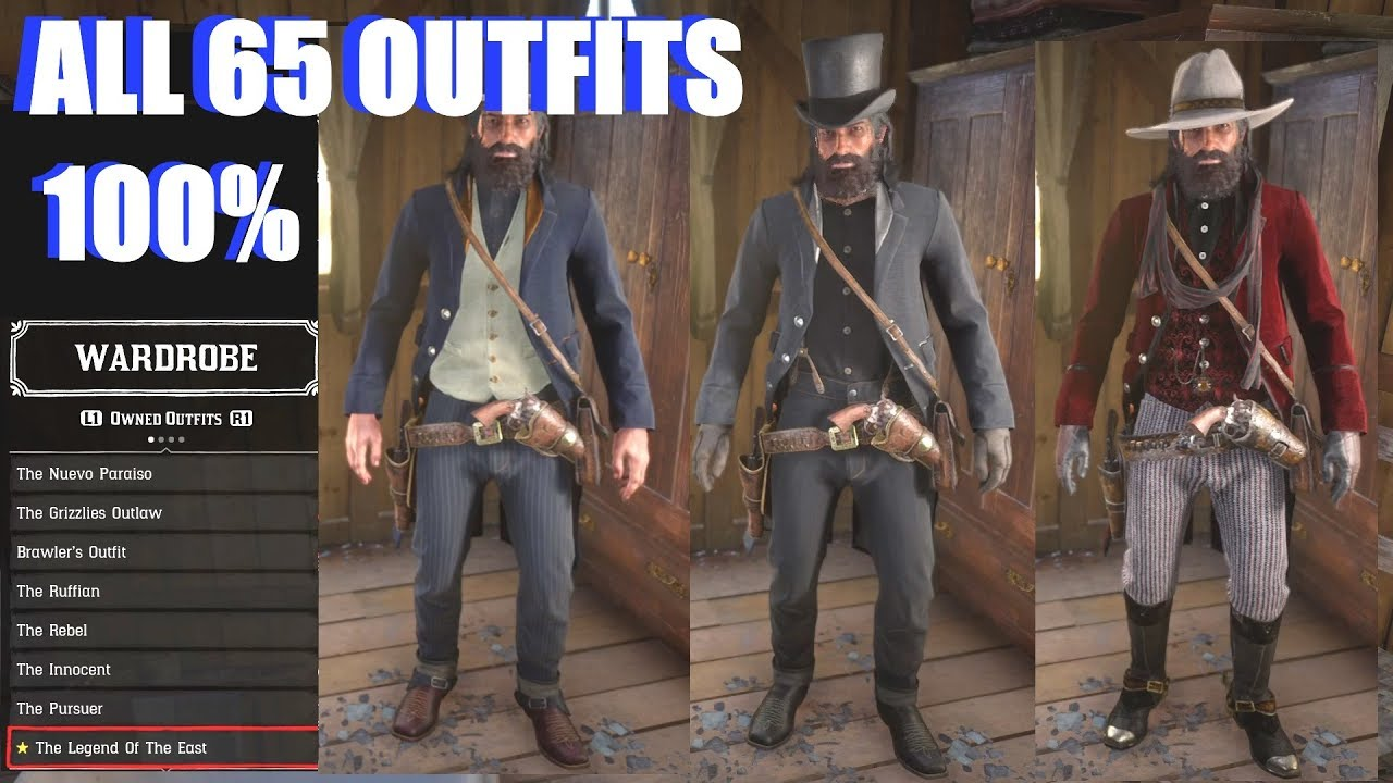 Red Dead Redemption 2 - All Outfits & Costumes (100% Post Game)