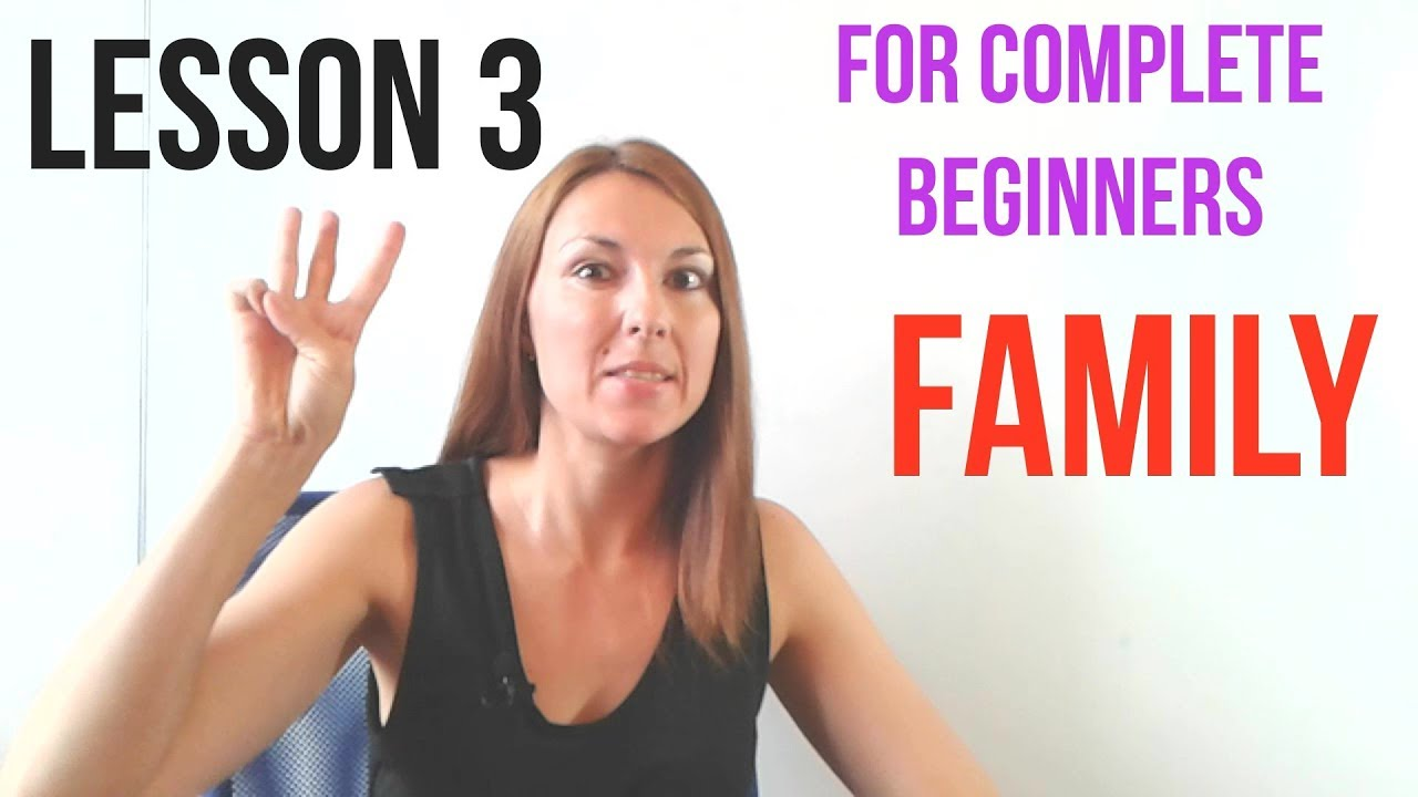 RUSSIAN LESSON 3 FOR COMPLETE BEGINNERS: tell about your FAMILY