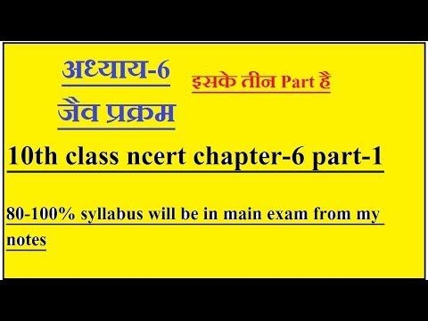 अध्याय-6 जैव प्रक्रम , 10th class ncert chapter-6 part -1