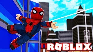 I TURNED THE SPIDER MAN FOR A DAY AT ROBLOX!! -(Roblox SpiderMan Simulator)