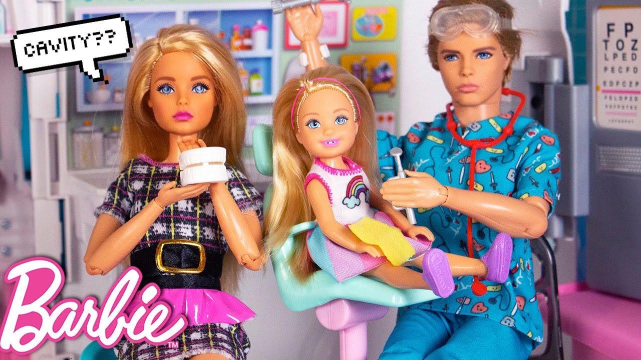 Barbie Chelsea Doll School Morning Routine - Dentist Visit!