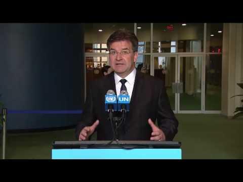 Miroslav Lajčák (General Assembly President-elect) - Media Stakeout