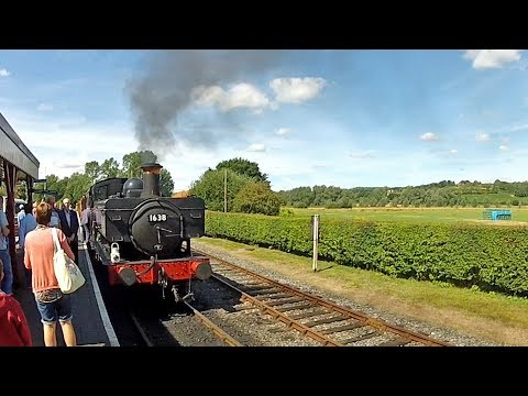 Ride The KESR From Bodiam To Tenterden In 4 1/2 Minutes. Drivers Eye View From Pannier 1638!
