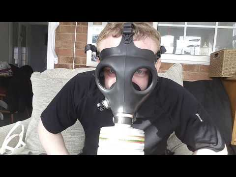 Demonstration of Israeli Civilian Shalon 4A1 Gas Mask Respirator - Prepping?