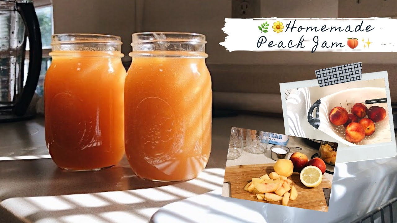 自制桃子酱 | Homemade Peach Jam ❤