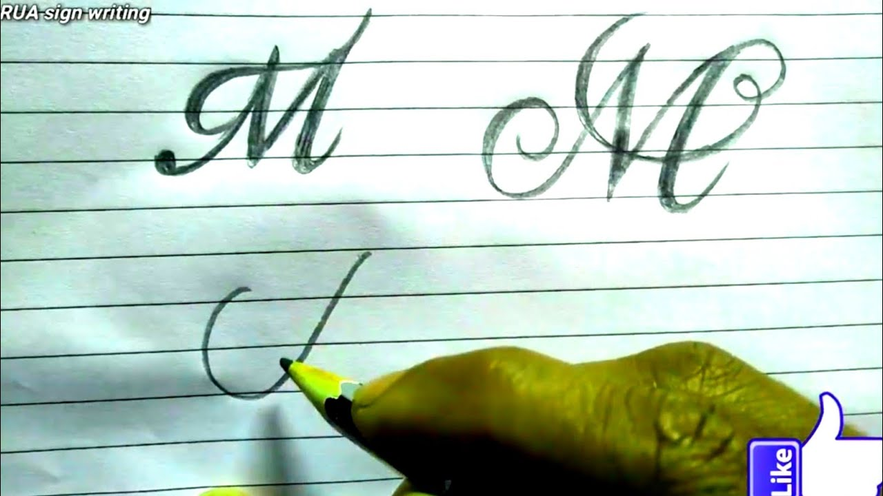 How to Write Cursive-Calligraphy letter M in different style