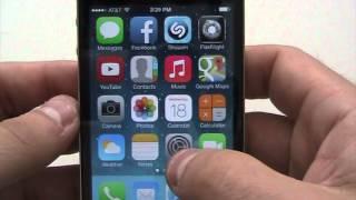 iOS 7 Running on an iPhone 4S