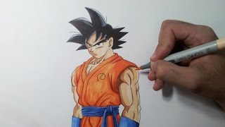 Drawing Goku - Resurrection of F (Fukkatsu no F)