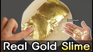 DIY How to Make Real Gold Slime!!!! OMG...