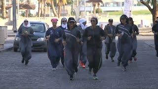 Saudiwomen exercise their new right to jog