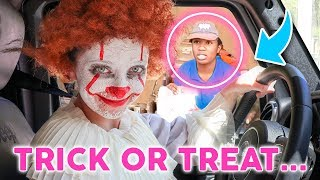 Drive Thru Trick-Or-Treat Challenge | What Will We Get?
