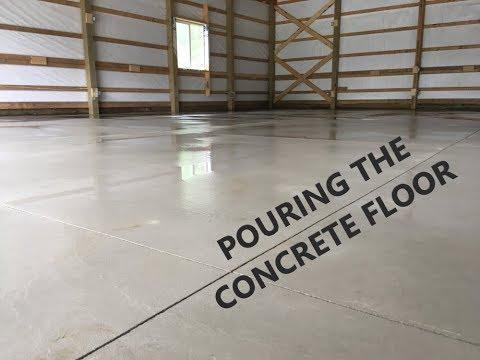 Garage/Shop - Concrete Floor Install