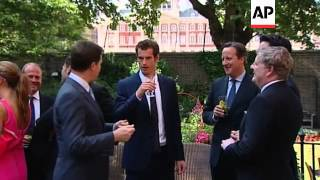 Wimbledon winner celebrates with political leaders in Downing St garden