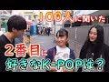 【BTSじゃなかった!】100人に2番目に好きなK-POPを聞いたら〇〇が1位になった!!!