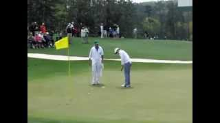 Masters 2014 Golf Rickie Fowler, Rory McIlroy, Adam Scott in Practice Rounds w slow motion swings