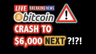 BITCOIN MARKET CRASH! - Is $6,000 Next?! 🎯❗️LIVE Crypto Analysis TA & BTC Cryptocurrency Price News