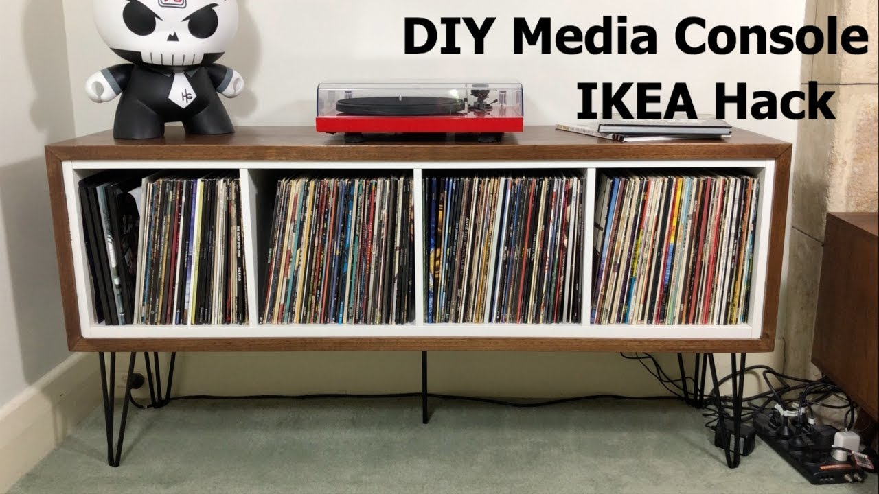 Media Storage Console Ikea Kallax Hack Diy With Sad
