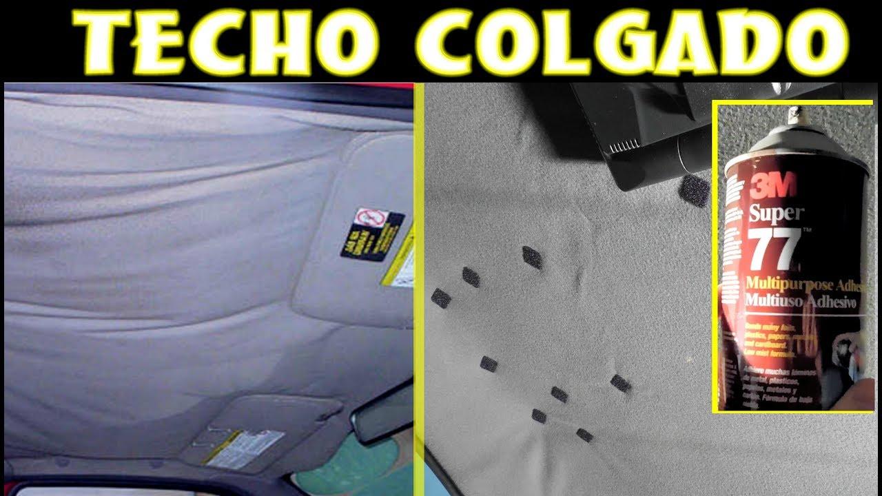 reparacion casera de techo colgado en el auto (lo mas sencillo