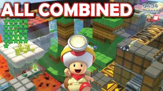 ALL CAPTAIN TOAD LEVELS COMBINED!! [Funny Super Mario 3D World mod]