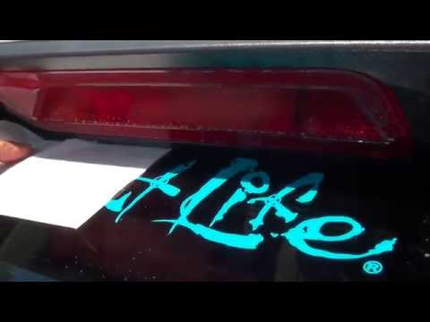 How To Place An Adhesive Sticker On Your Car