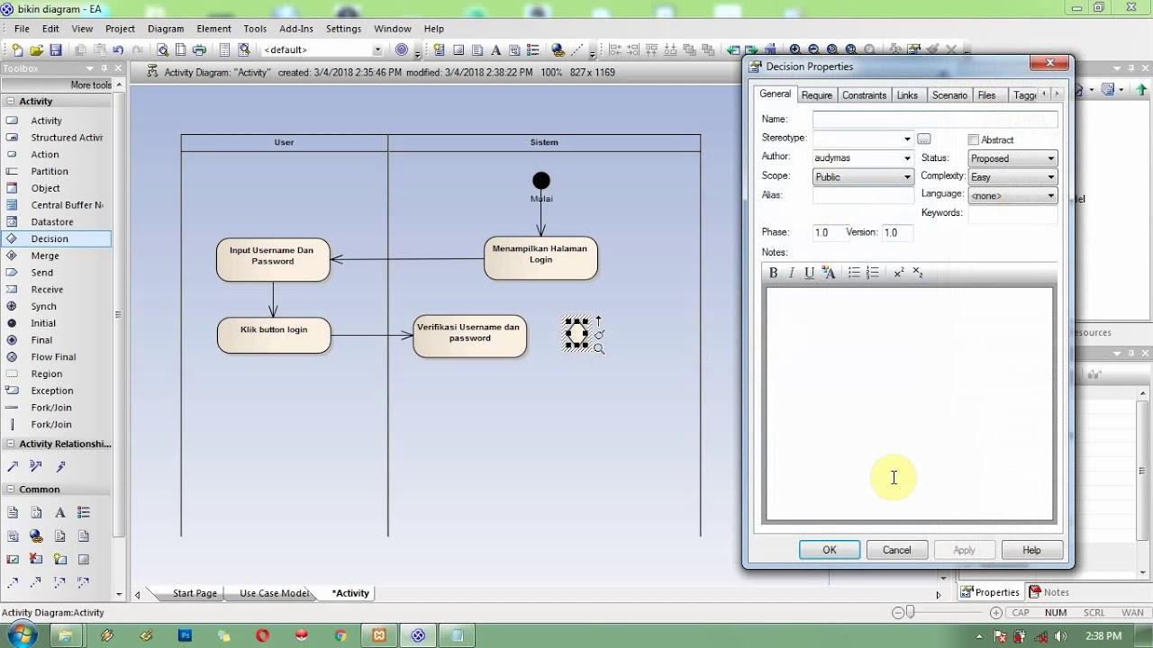 Cara bikin activity diagram dengan ea youtube cara bikin activity diagram dengan ea ccuart Gallery
