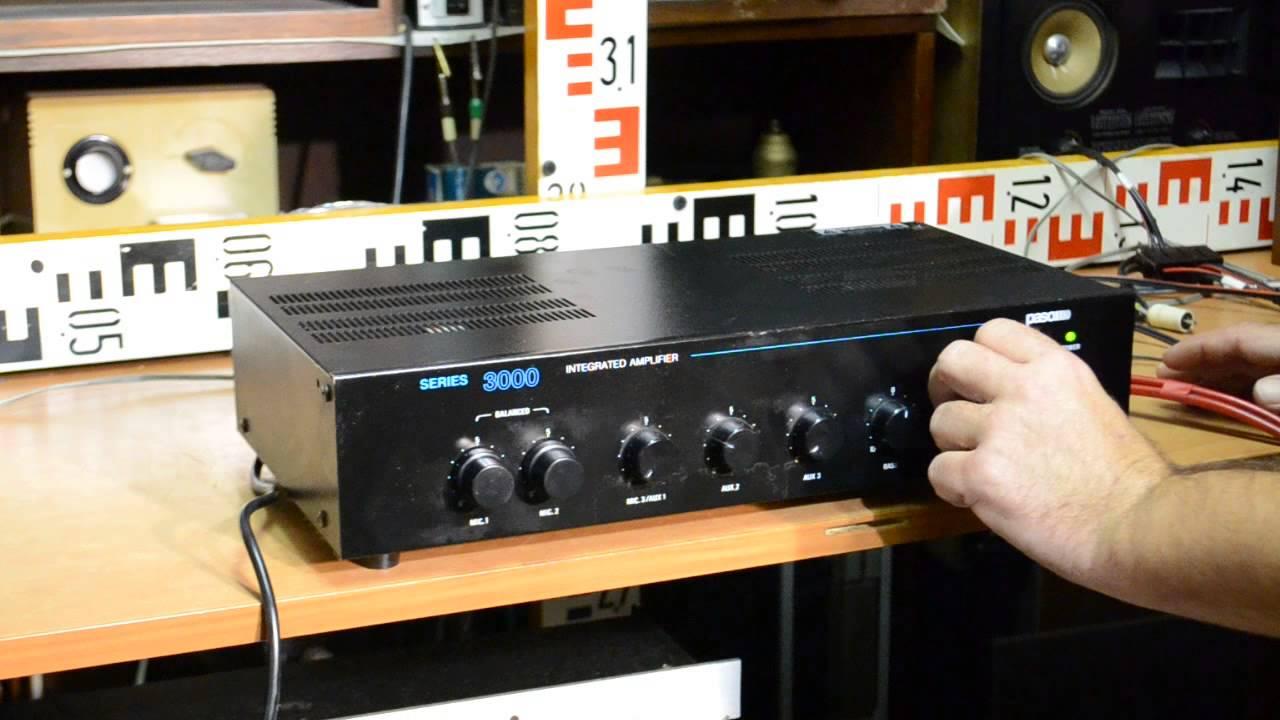 Paso Ax3030  Amplifier 12  220v  8 Ohm  50  70  100 V Mixer