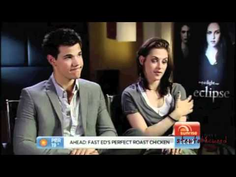 Taylor Lautner and Kristen Stewart Funny Moments