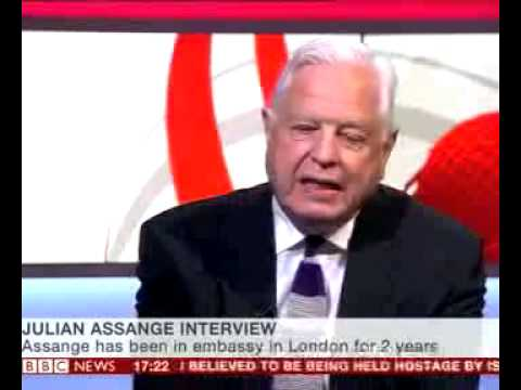 The BBC's John Simpson talks to Julian Assange