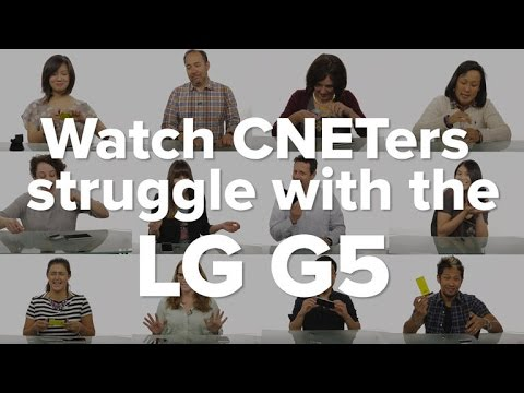 Watch CNETers struggle with the LG G5