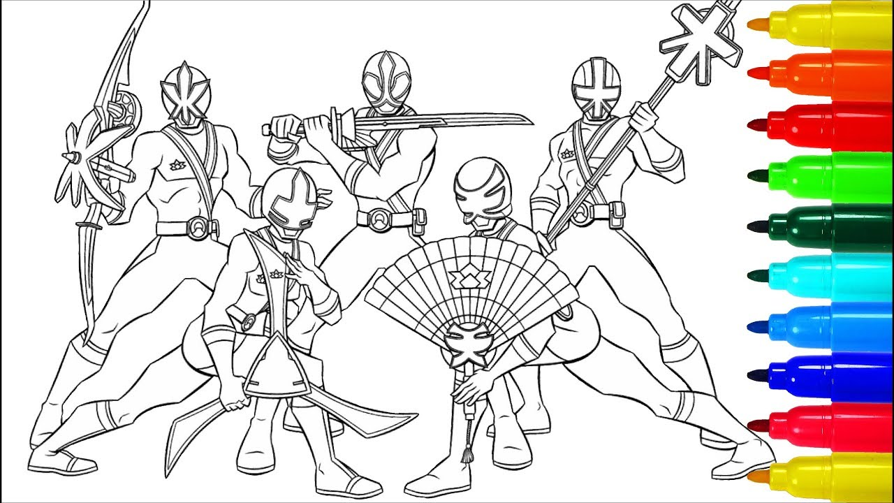 Power rangers samurai coloring pages lessons coloring pages coloring markers
