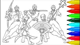 Power Rangers Samurai Coloring Pages | Lessons Coloring Pages | Coloring Markers
