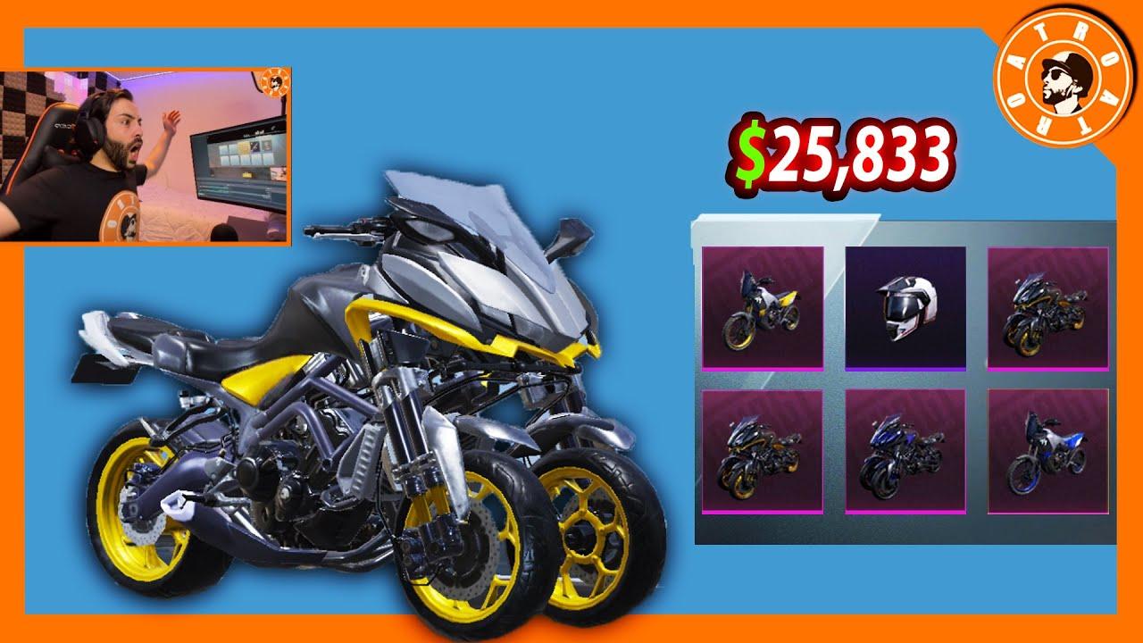 تفتيح صناديق الدراجة النارية 🏍 بقيمة 25,833$ الف شدة😍 و توزيع شدات للمشاهدين🎁 PUBG MOBILEw