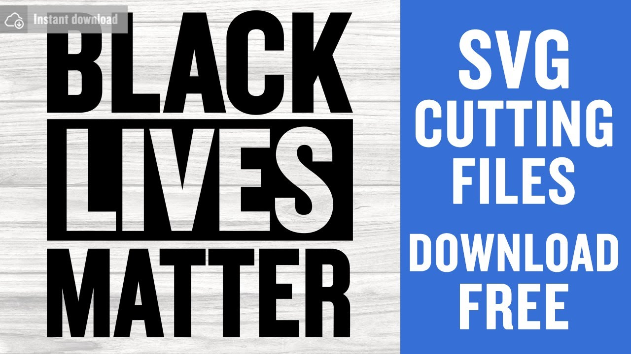 Blm Svg Free Cutting Files For Silhouette Instant Download Youtube