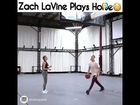 ZACH LAVINE PLAYS HORSE!!