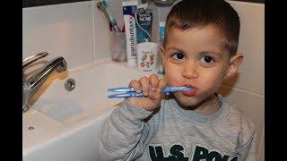 Mertle diş fırçalama zamanı
