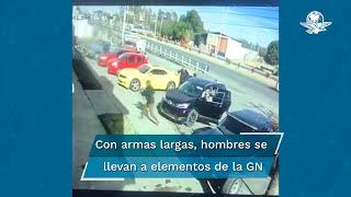 Sujetos armados se llevan a dos elementos de la Guardia Nacional en Zacatecas
