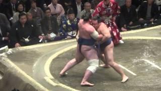 20150113 大相撲初場所3日目 鶴竜vs栃ノ心.