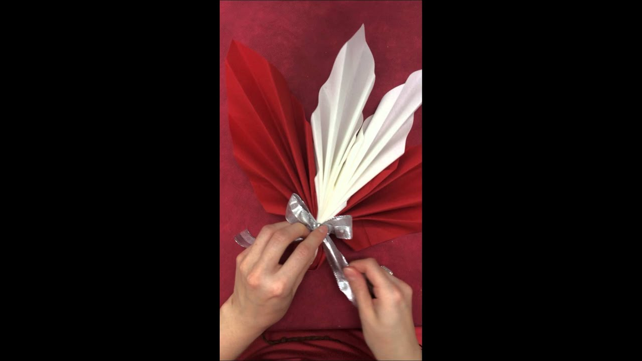 Pliage de serviette no l d co youtube - Serviette en papier noel ...