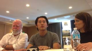 Walking Dead at SDCC 2013 with Steven Yeun, Lauren Cohan, and Scott Wilson Thumbnail