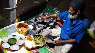 65 Years Man Manage Everything Must Working Hard for Selling Chitoi pitha | Bangladeshi Street Food